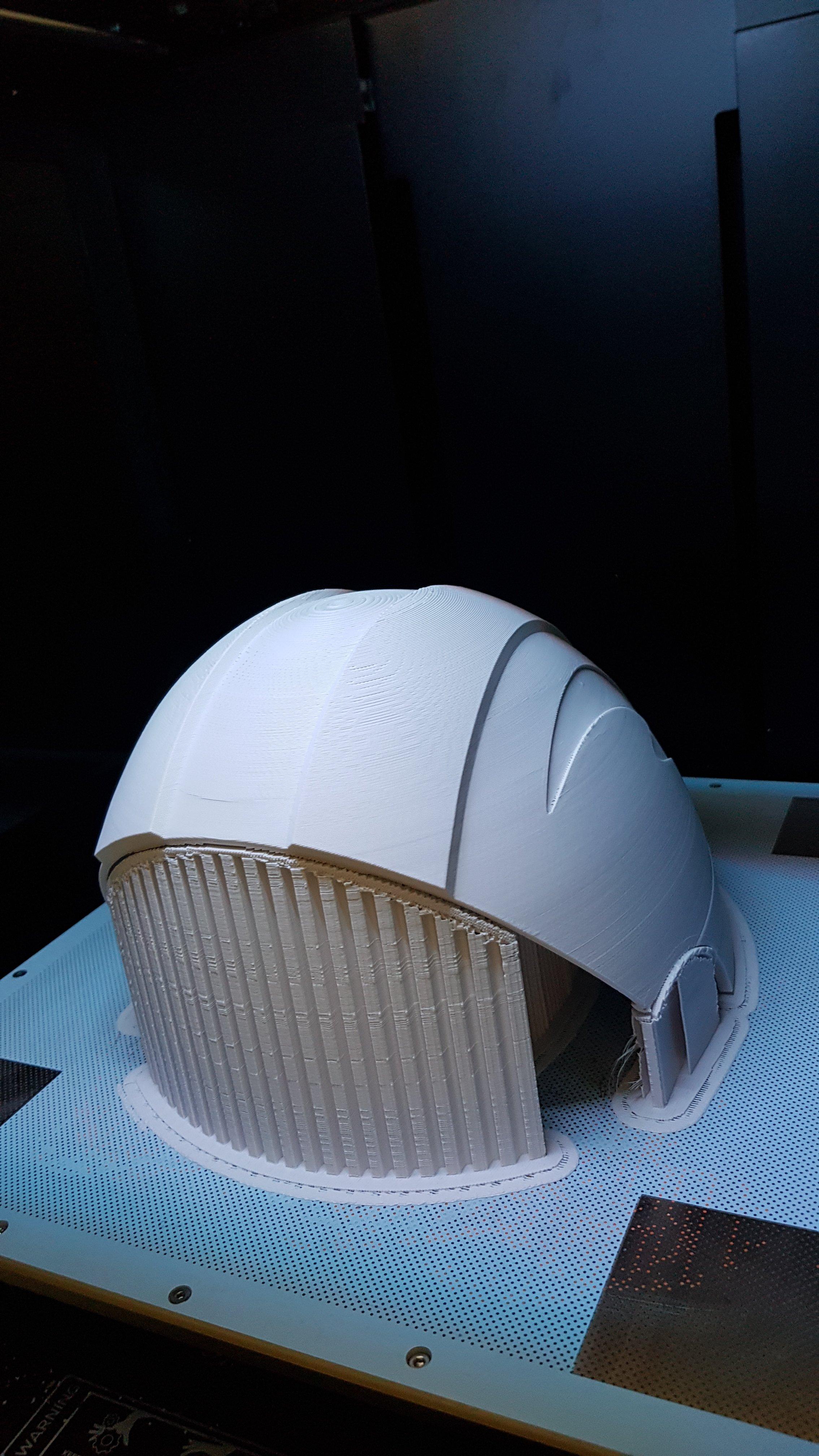 Impresión 3d prototipo de casco